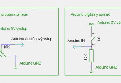 Vstupy mikrokontroléra Arduino